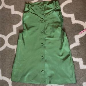 Kate Spade New York Sleeveless Back ButtonUp Small